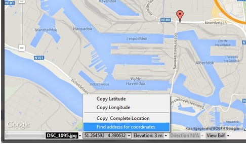 Photo GPS Extract GeoDecoder - Find elevation by address